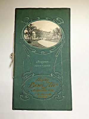 1902 HOTEL BON AIR AUGUSTA GEORGIA Large Brochure GA