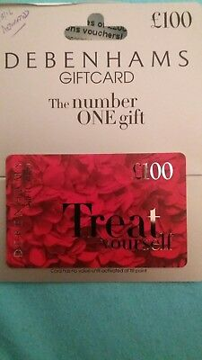 DEBENHAMS Gift Card £100. Brand new
