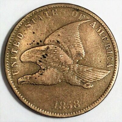 1858 Flying Eagle Cent Small Letters Beautiful Coin