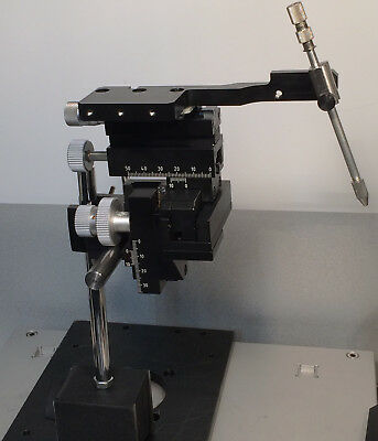 MW Marzhauser MM33  XYZ+X fine MANUAL MICRO MANIPULATOR w MAGN BASE & EXTRA TOOL