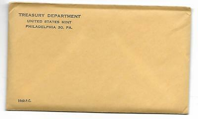 ****One 1960 US Silver Proof Coin Set - Original U.S. Mint Envelope Unopened****