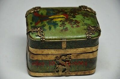 Delicate China Silver Inlaid Porcelain Handmade Butterfly & Dragon Jewelry Box