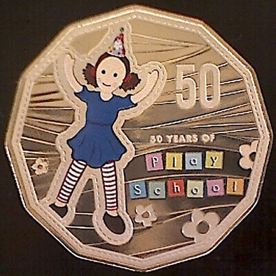 2016 50c '50 Years of Play School' Jemima Colored Coin from a PNC