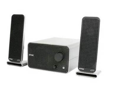 TDK Tremor XA-60 Speakers Flat Panel 2.1Ch Accoustic Sound System Silver White