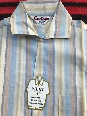 Sharp Deadstock NOS 1950s Cotton Striped Carnegie Rockabilly Shirt-Jac XS NWT