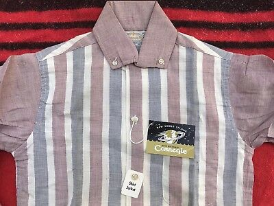 Deadstock NOS Vintage 1950s Two Tone Carnegie Rockabilly Shirt-Jac Small NWT