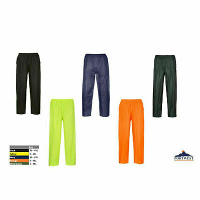 Adult Rain Pants Waterproof, Sealed Seams Black/Green/Orange/Yellow/Blue, S441
