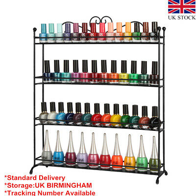 3&4 Tiers Nail Polish Rack Display 3 Colors Cosmetic Varnish Shelf Organizer UK