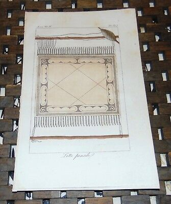 ANTIQUE Italy COPPER ENGRAVING Print 1828 PENSILE BED South America 67A