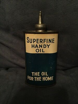 Vintage Superfine Handy Oiler Oil Tin Lead Top St. Louis MO
