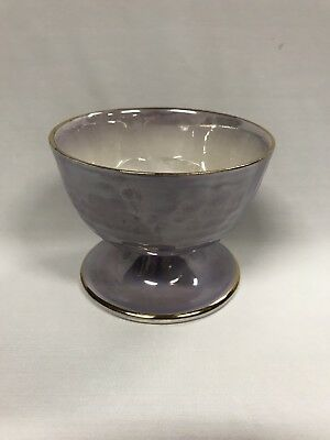 Vintage Purple Maling Footed Bowl Made In England Marked To Base