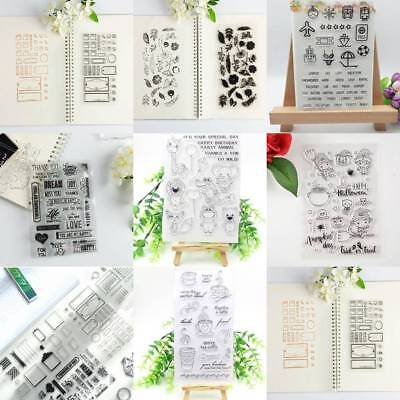 Transparent Clear Stamp Scrapbooking Stationery Photo Album Card Decorations DIY