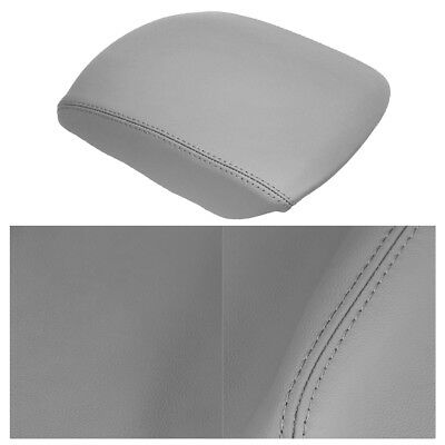 Fit 09-12 HONDA Pilot 3.5L Real Leather Center Console LID ARMREST COVER Gray