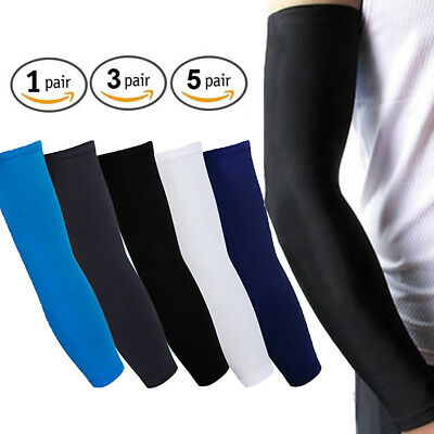Cooling Arm Sleeves UV Sun Protection Basketball Golf Athletic Sport US FAST