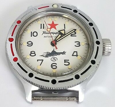 Vintage Vostok Soviet Russian Submarine Komandirskie Automatic Mens Diver Watch