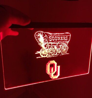 OKLAHOMA SOONERS LED Neon Sign for Game Room,Office,Bar,Man Cave, Decor