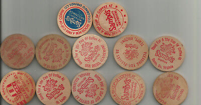 12 Sambo's Wooden Nickels - Some Anywhere, Some Cities