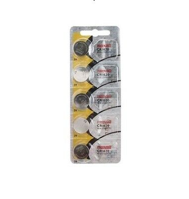 5Pcs. Maxell CR1620 1620 Lithium 3V Batteries (Made in Japan)