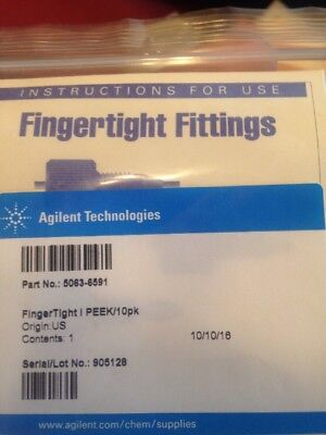 Agilent Technologies PEEK finger tight 1/16 in. 10pk 5063-6591