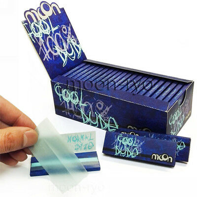 "1 box 50 booklets Moon Rice ""Blue Papers"" Cigarette Rolling Papers 1.0"" 70*36mm"