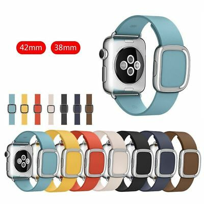 Leather Magnetic Wrist Band Modern Buckle iWatch Strap for Apple Watch Series
