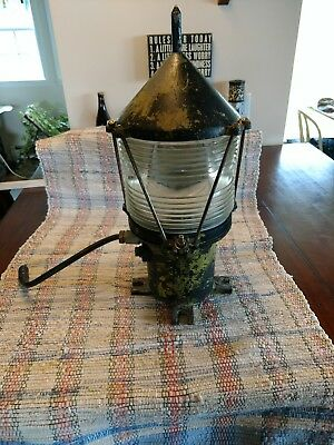 United States Coast Guard USCG Bouy Beacon dock light  maritime antique RARE NR