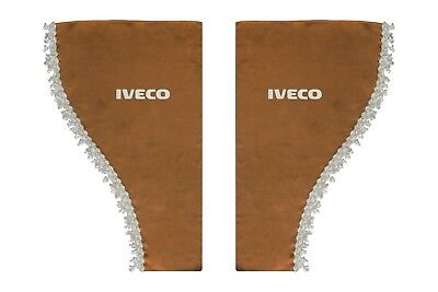 BEIGE Side Windows Shield Truck HGV Lorry Waveform Pelmets Curtains for IVECO