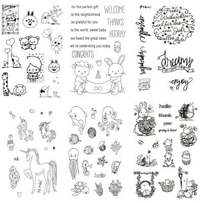Rabbit Transparent Clear Silicone Stamp Seal for DIY Scrapbooking Decoration
