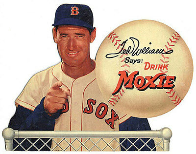 "Ted Williams Moxie Soda Sign  8.5""x11"" Wall Poster  Decor Mancave #4"