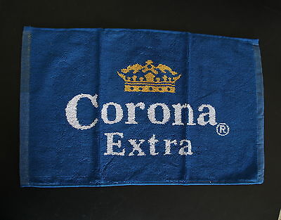 CORONA EXTRA Mexican Beer Bar / Pub Blue-White-Yellow Cotton Small Towel NEW