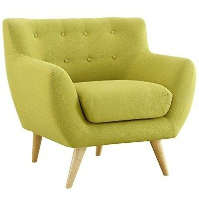 Love Seat Modern Sofa Mid Century Modern Style For Living Room Wood Legs Fabric