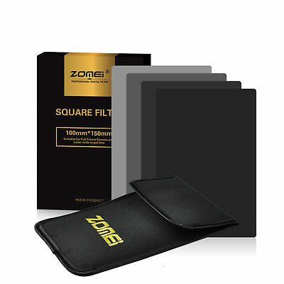 ZOMEI 150*100mm ND2/4/8/16 Neutral Density Square Filter Kit for Cokin Z Camera