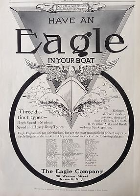 1912 Ad(F24)~Eagle Marine Engines, The Eagle Co. Newark, Nj.