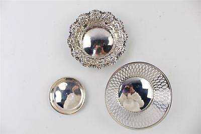 Lovely Collection of 3 x HALLMARKED Silver Trinket Trays