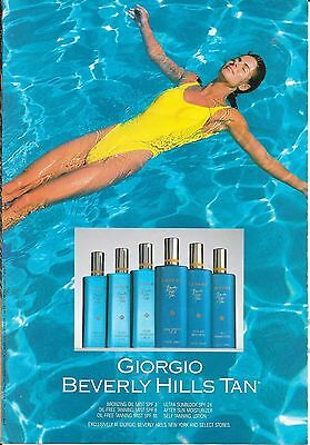 Vintage Giorgio Beverly Hills Tan Tanning Products Magazine Advertisement 1988