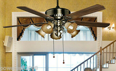 New Fashion European Antique 60 Inches Decoration for resta Ceiling Fans + Lamps