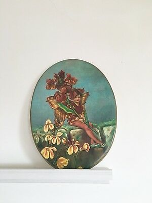 Minton flower fairy Antique Wall Plaque pottery 19th century