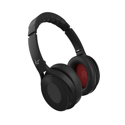 KitSound Immerse Wireless Bluetooth Headphones with Noise Cancelling - Black
