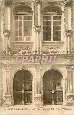 Vintage Postcard Azay the Curtain Detail of the Stair-well of Honor