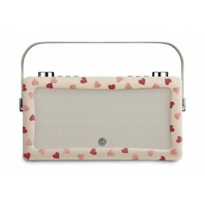 Hepburn MKII DAB Radio & Bluetooth Speaker Emma Bridgewater Pink Hearts
