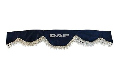 BLUE Front Windscreen Shield Truck HGV Lorry Waveform Curtains Pelmet for DAF