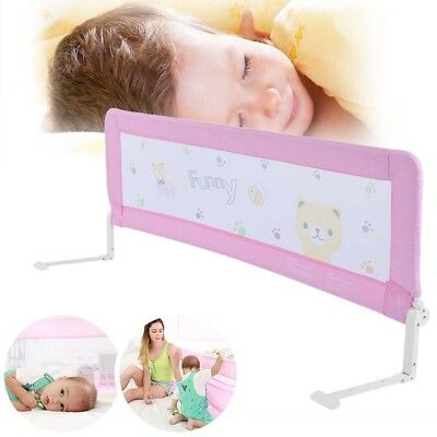 150CM Pink Kids Baby Child Safety Bed Rail Guard Folding Sleeping Guard Sale Now