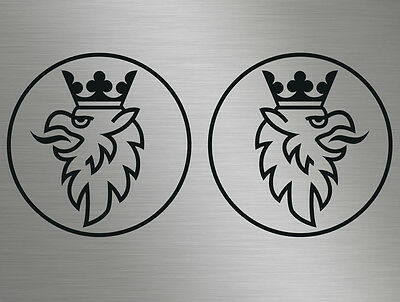Scania Saab Griffin Logo Front Back Badge Car Truck Vinyl Decals Stickers Window