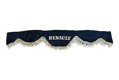 BLUE Front Windscreen Shield Truck Lorry Waveform Curtains Pelmet for RENAULT