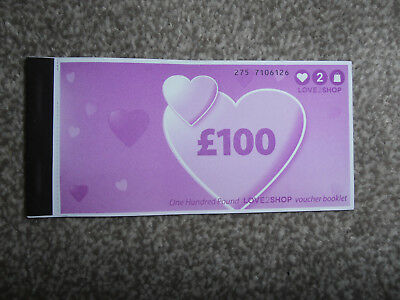 £100 Pounds Of Love To Shop Vouchers