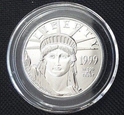1999 Us Mint 1 Oz Platinum $100 Coin!!!