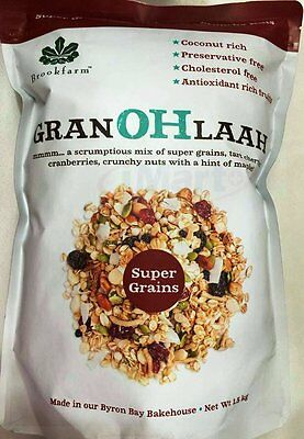 Brookfarm Granohlaah with super grains  tart cherries & crunchy nuts 1.5kg NEW