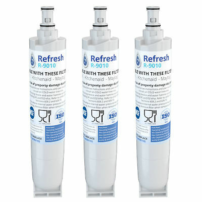 Refresh Replacement Water Filter - Fits Whirlpool 4396508 Refrigerators (3 Pack)