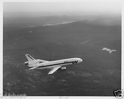 Vintage Western Air Lines Dc 10 Rh In Flight - 8 X 10 Black And White