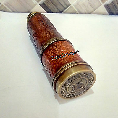 Vintage Style Victorian Marine Dollond London Telescope Solid Brass Reproduction
